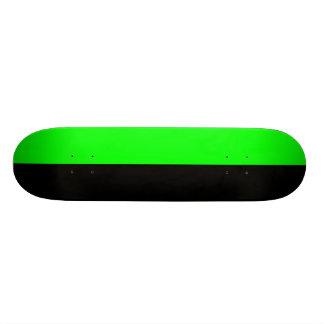 Black and Neon Green Split Color Skate Board Deck