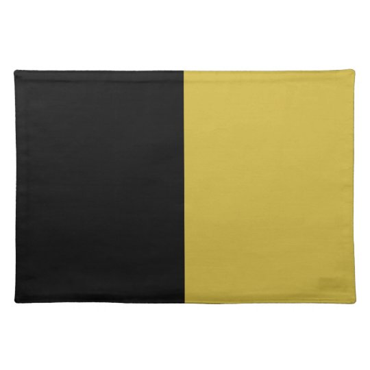 Black and Old Gold Split Colour Placemat