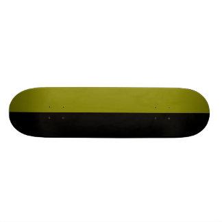 Black and Olive Split Color Scheme 21.3 Cm Mini Skateboard Deck