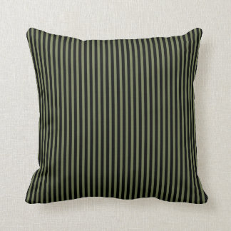 Black and Olive Stripes Cushion