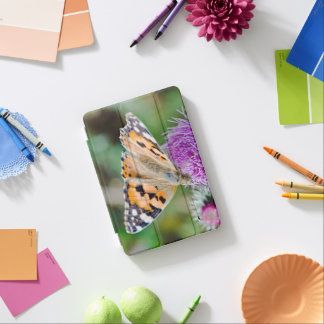 Black and Orange Butterfly on Flower iPad Mini Cover