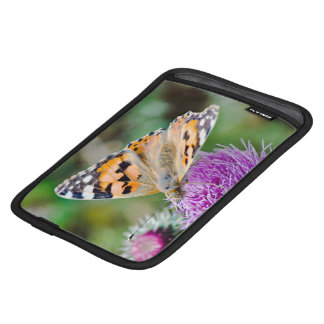 Black and Orange Butterfly on Flower Sleeve For iPad Mini