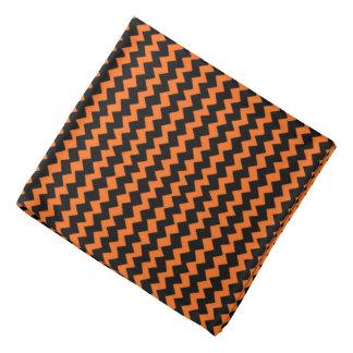 Black and Orange Chevron Bandana
