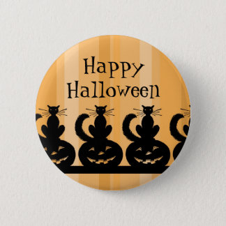 Black and Orange Happy Halloween Pin