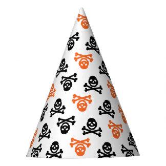 Black and Orange Skull Party Hat