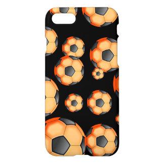 Black and orange Soccer Design iPhone 7 Case