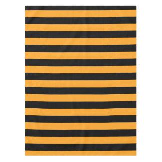Black and orange stripes pattern tablecloth