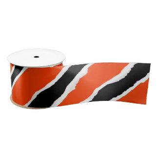 Black and Orange Tiger Strip Ribbon Satin Ribbon