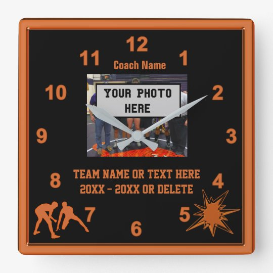 Black and Orange Wrestling Coach Gifts PHOTO, TEXT