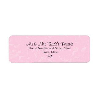 Black and Pastel Pink with Subtle Pattern Wedding Return Address Label