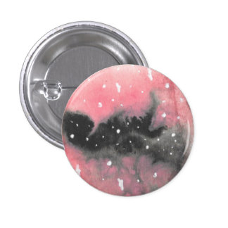 Black and Pink Broken Galaxy Pinback Button