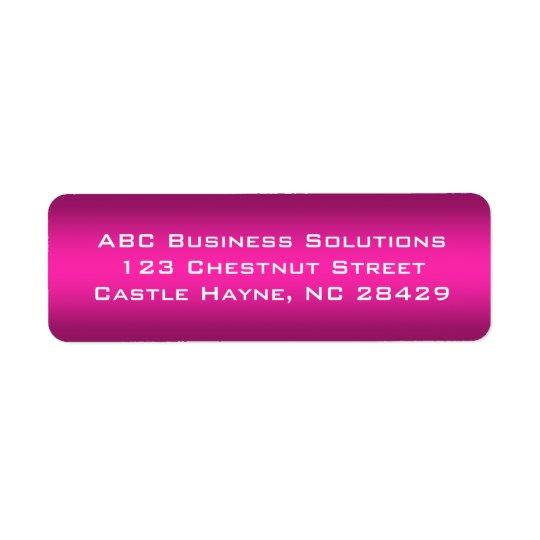 Black and Pink Business Return Address Sticker Return Address Label