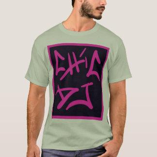 black and pink chic DJ logo shirt
