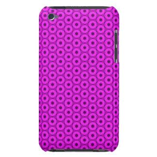 Black and Pink Circular Pattern iPod Case-Mate Case