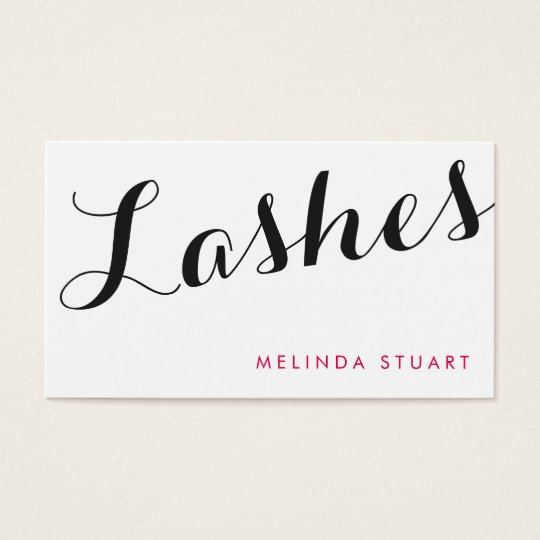 Black and Pink Elegant Typography Makeup Artist Business Card