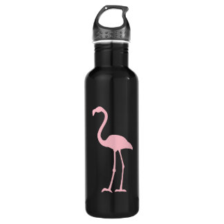 Black and Pink Flamingo 710 Ml Water Bottle