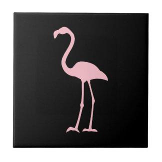 Black and Pink Flamingo Tile