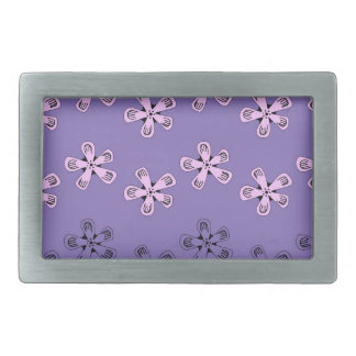 Black and pink flowers belt buckle