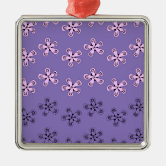 Black and pink flowers christmas ornament