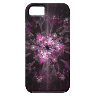 Black And Pink Fractal iPhone 5 Cases