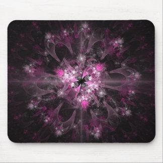 Black And Pink Fractal Mouse Mat