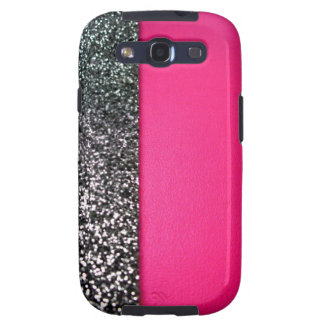 Black and Pink Glitter Samsung Galaxy Cover Galaxy SIII Cover