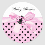 Black and Pink Ladybug Stickers