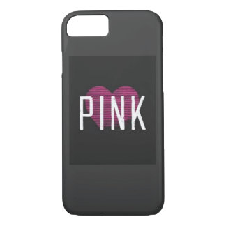 black and pink love iPhone 7 case