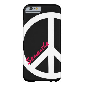 Black and Pink Peace Sign iPhone 6 case