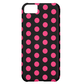 Black and Pink Polka Dots iPhone 5C Case