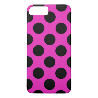 Black and Pink Polka Dots iPhone 7 Plus Case