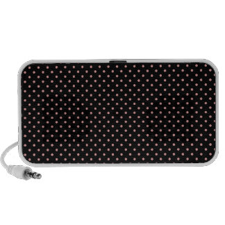 Black and Pink Polka Dots Pattern Notebook Speakers