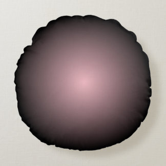 Black and Pink Radial Gradient Round Cushion
