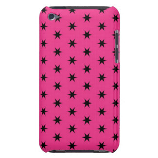 Black and Pink Star Pattern iPod Case-Mate Case