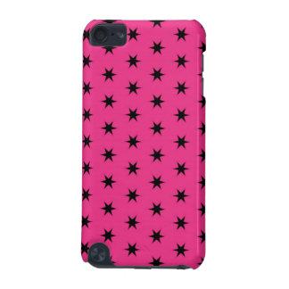 Black and Pink Star Pattern iPod Touch 5G Covers