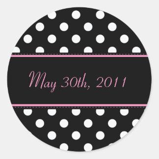 Black And Pink Sweet Sixteen Date Envelope Seal