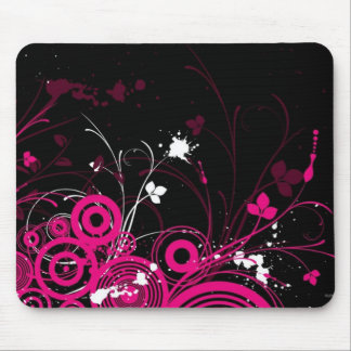 Black and Pink Tattoo Mouse Mat