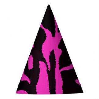Black and pink zebra jungle animal fashion modern party hat