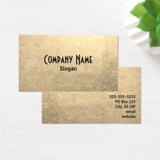 Black and Platinum Gold Foil Photo Business Card