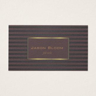 Black and Plum Business Card