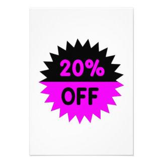 Black and Purple 20 Percent Off Custom Invites