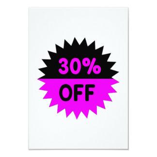 Black and Purple 30 Percent Off 9 Cm X 13 Cm Invitation Card