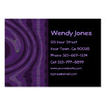 black and purple abstract business cards