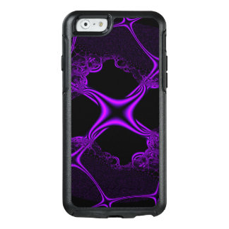 Black And Purple Abstract Design OtterBox iPhone 6/6s Case