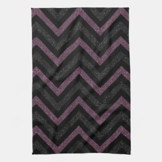 Black and purple chevron kitchen towel