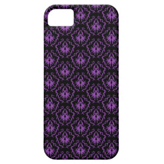 Black and Purple Damask Pattern. Gothic. iPhone 5 Cover