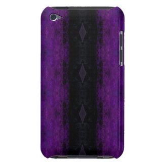 Black and Purple Diamond Stripe Case-Mate iPod Touch Case