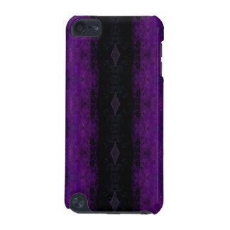 Black and Purple Diamond Stripe iPod Touch (5th Generation) Cases
