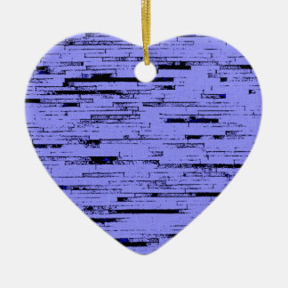 Black and purple lines art old wall bricks pattern ceramic heart decoration