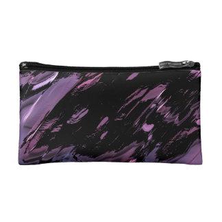 Black and purple paint smears makeup bag